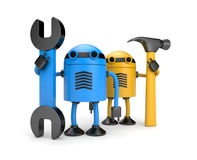 Robot workers Royalty Free Stock Images