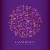 Robot World vector design Royalty Free Stock Photo