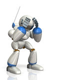 The robot is worried. Royalty Free Stock Photography