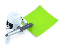 Robot writing notes Royalty Free Stock Images