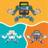 Robot y diseño de la tecnología Imagen de archivo libre de regalías