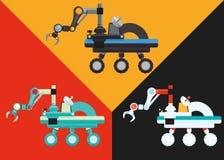 Robot y diseño de la tecnología Fotografía de archivo libre de regalías