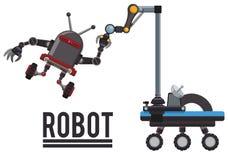 Robot y diseño de la tecnología Fotos de archivo libres de regalías