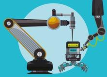 Robot y diseño de la tecnología Fotos de archivo