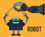 Robot y diseño de la tecnología Foto de archivo libre de regalías