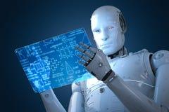 Robot z edukaci hud Zdjęcie Royalty Free