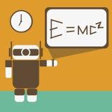 Robot z powrotem szkoła Zdjęcie Stock