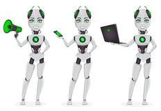 Robot z sztuczną inteligencją, żeńska larwa royalty ilustracja