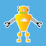 Robot zabawka ilustracji