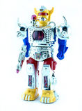 Robot zabawka na białym tle Obrazy Stock