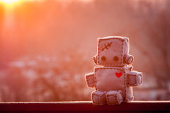 Robot Zacht Stuk speelgoed Royalty-vrije Stock Foto's