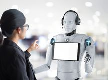 Robota asystenta poj?cie ilustracja wektor