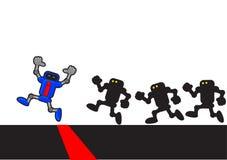 Robota bieg ilustracji
