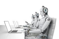 Robota centrum telefoniczne Obrazy Royalty Free
