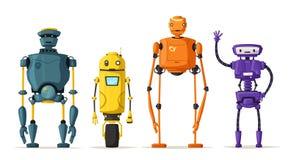 Robota charakter Technologia, przyszłość obcy kreskówki kota ucieczek ilustraci dachu wektor ilustracji