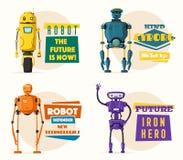 Robota charakter Technologia, przyszłość obcy kreskówki kota ucieczek ilustraci dachu wektor ilustracja wektor