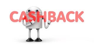 Robota chwyta czerwony słowo - Cashback Zdjęcie Stock