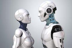Robota cyber para Zdjęcia Royalty Free