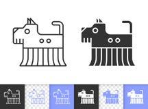 Robota czerni linii wektoru Psia prosta ikona royalty ilustracja