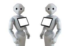 Robota konsultant z cyfrową pastylką royalty ilustracja