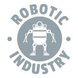 Robota maszynowy logo, prosty szarość styl ilustracji
