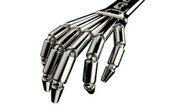 Robota motyl i ręka Fotografia Royalty Free