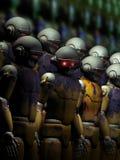 Robota ostrzeżenie ilustracji