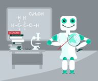 Robota Pomocniczy nauczyciel przy salą lekcyjną royalty ilustracja