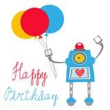 Robota wszystkiego najlepszego z okazji urodzin karta royalty ilustracja