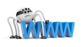 Robota WWW i pająk Zdjęcia Royalty Free