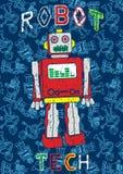 Robota wzór. Obraz Stock