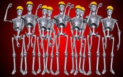 Robotachtig Aantal arbeidskrachten Stock Afbeeldingen