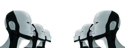 Robotachtig leger van toekomst Stock Foto