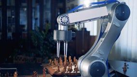 Robotachtig Wapen het Spelen Schaak Toekomstig concept