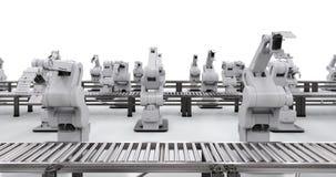 Robotachtig wapen met transportbandlijn Stock Fotografie
