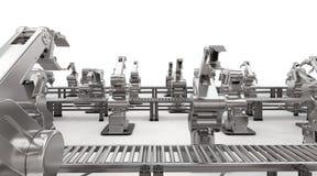 Robotachtig wapen met transportbandlijn Royalty-vrije Stock Fotografie