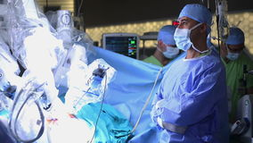 Robotachtige Chirurgie Medische robot - Voorraadlengte stock footage