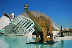 Robotachtige dinosaurussen - Stad van Kunsten en Wetenschappen. Stock Afbeeldingen