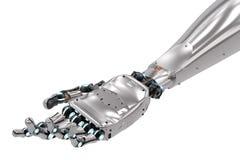 Robotachtige hand met open handpalm Royalty-vrije Stock Afbeelding