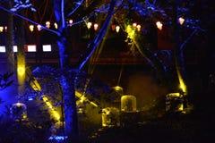 Robotachtige Lichtstralen Royalty-vrije Stock Foto's