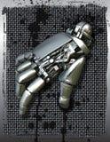 Robotachtige mechanische hand Stock Afbeeldingen