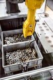 Robotachtige Wapen moderne industriële technologie Royalty-vrije Stock Afbeelding