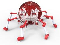 Robotachtige wapens - assemblage rond het wereldconcept Stock Foto