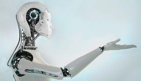 Robotandroidkvinnor Arkivfoto