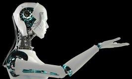 Robotandroidmän Royaltyfri Foto
