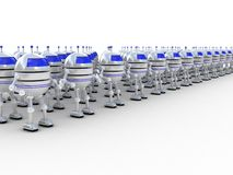 Robotar 3D Arkivbilder