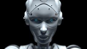 Robotar 3d för fi för teknologirobotsaien framför vektor illustrationer