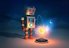 Robotar har känslor Fotografering för Bildbyråer