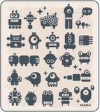 Robotar monster, främlingsamling #2. Arkivfoto