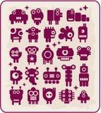 Robotar monster, främlingsamling #5. Fotografering för Bildbyråer